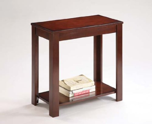 Cherry Finish Chairside Table - Cherry Finish Chair Side Talbe with Storage
