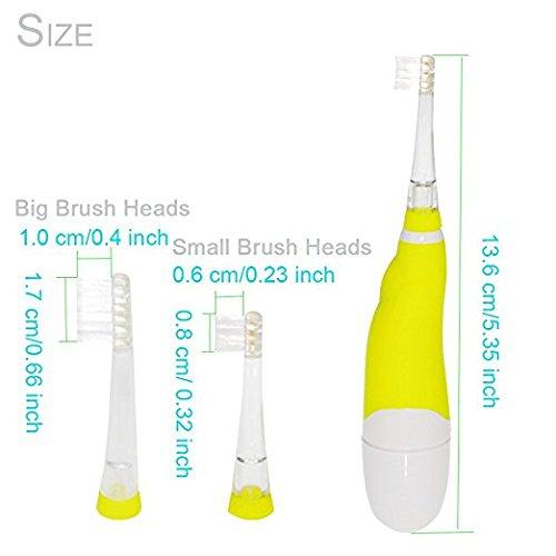 SEAGO light Toothbrush Baby Children, waterproof,Focus 2-5Yeas Old Baby