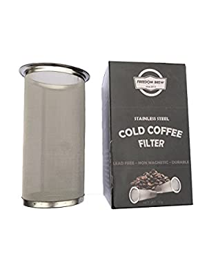 Cold Brew Coffee Filter|Super Fine Stainless Steel Mesh Filter| Designed Exclusively for Cold Brew| Use With Wide Mouth Ball Mason Jar
