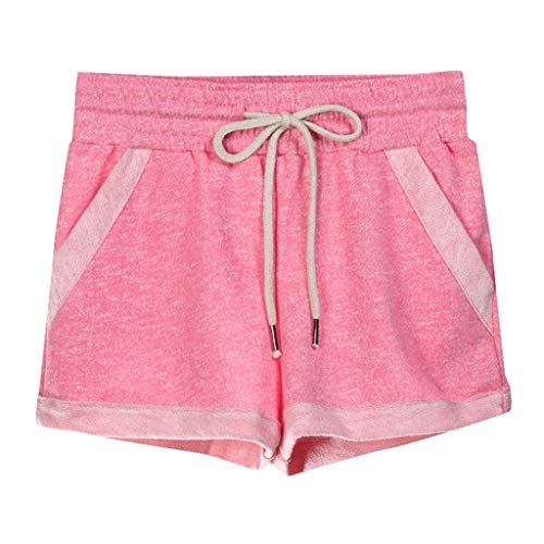iNoDoZ Fashion Women's Summer Casual Plus Size Soft Shorts Fitness Yoga Home Pants Sports Pants Pink