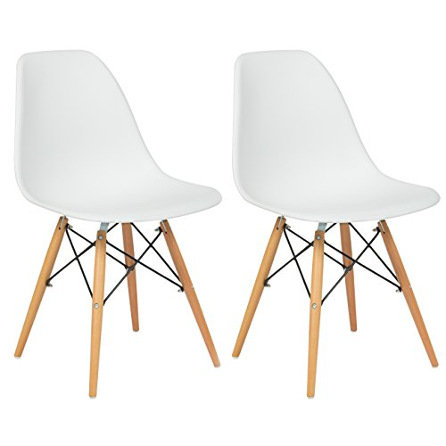 Best-Choice-Products-Set-of-2-Eames-Style-Dining-Chair-Mid-Century-Modern-Molded-Plastic-Shell-Arm-Chair
