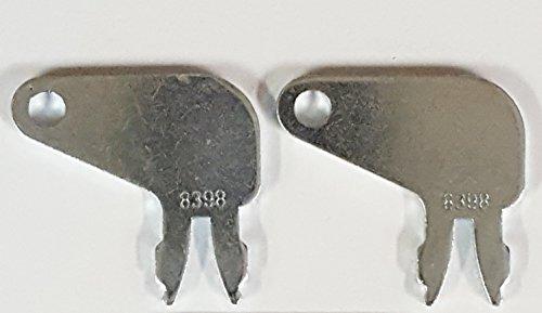 Pair (2 keys) Keyman CAT Caterpillar Heavy Equipment Key-Battery Key-key for Caterpillar, Komatsu, International, Part Number 8H5306 (Caterpillar Key)