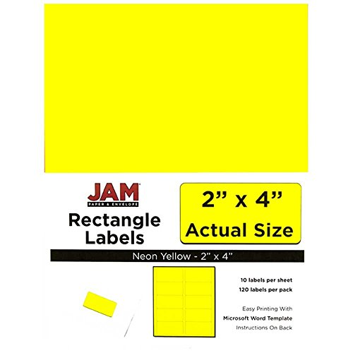 jam-paper-mailing-address-labels-medium-2-x-4-neon-fluorescent-yellow-10-labels-per-page-120-pack