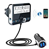 Car MP3 Bluetooth Player, Support Memory Card Large Screen FM Transmitter Handsfree Car Audio Music Player