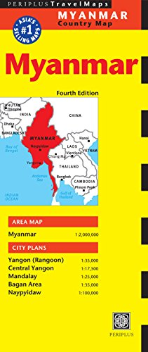 Myanmar Travel Map Fourth Edition: (Burma Travel Map) (Periplus Travel Maps)