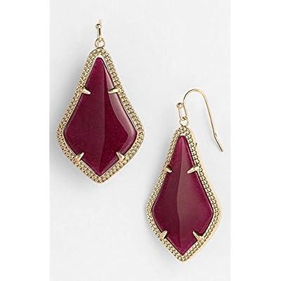 Kendra Scott Alex Maron Jade/ Gold Drop Earrings supplier