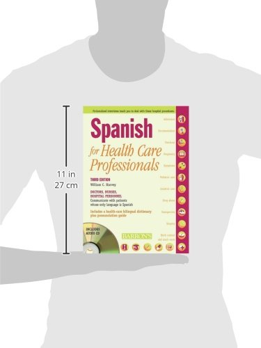 Spanish for Healthcare Professionals with 3 Audio CDs by Brand: Barron's Educational Series