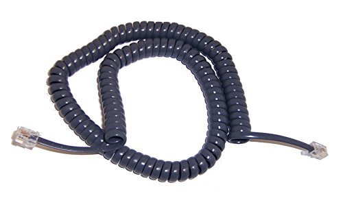 Cord Replacement Coil (Replacement Coil Handset Cord for AT&T 900 Series Phones, Titanium Blue)