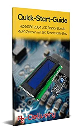 AZDelivery ⭐⭐⭐⭐⭐ HD44780 1602 M/ódulo de visualizaci/ón LCD para Arduino 3x Schnittstelle 2 x 16 caracteres