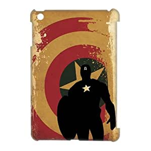 Qxhu Captain America patterns Protective Snap On Hard Plastic Case for Ipad Mini 3D case