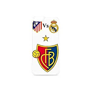 Funny Iphone 6 case for 4.7 inch,basel vs real madrid design case Plastic and TPU Black&White hjbrhga1544