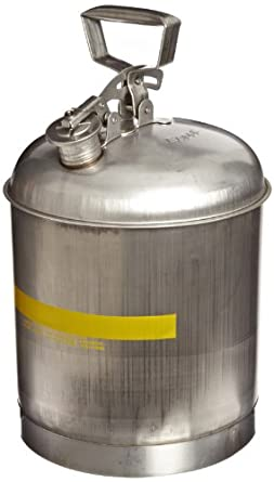 """Eagle 1315 Type I Safety Can, 11-1/4"""" Width x 15-7/8"""" Depth, 5 Gallon Capacity"""