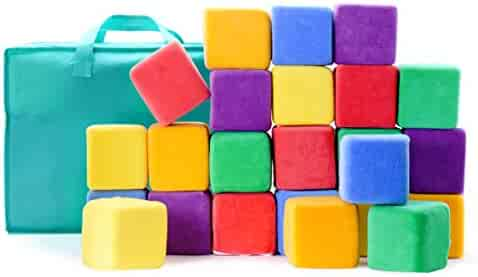 Milliard Soft Foam Blocks for Stacking Sorting and Building 4