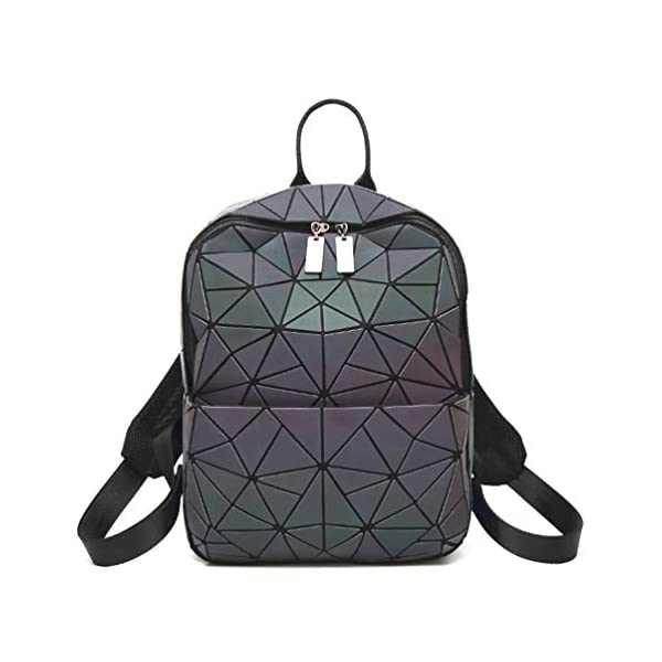 HotOne Geometric Backpack Holographic Reflective Backpacks Fashion Backpack