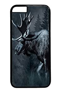 Case Cover For Apple Iphone 6 4.7 Inch , Case Cover For Apple Iphone 6 4.7 Inch -Moose Wildlife Custom PC Hard Case Cover For Apple Iphone 6 4.7 Inch Black