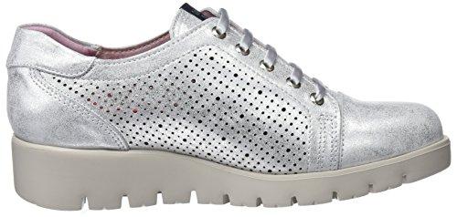 Plateado Haman Callaghan Para Mujer Derby De Zapatos 2 plata Cordones 0xgdawOx