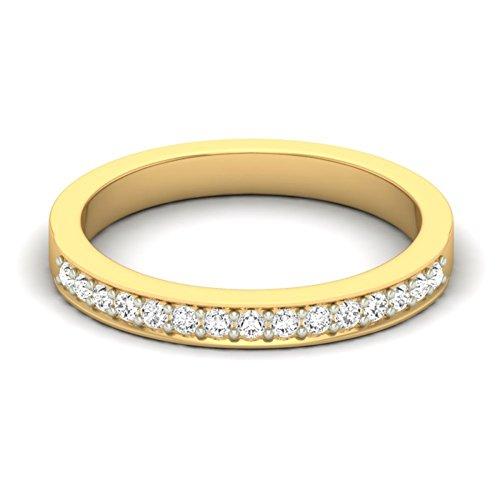 18K Or jaune 0.24CT TW Round-cut-diamond (IJ | SI) en diamant