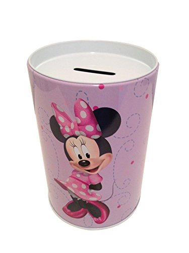 The tin box company Minnie on Purple Kids Coin (Money) Bank, Disney -