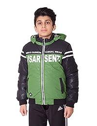 Boys Kids Contrast Panel Varsity Jacket