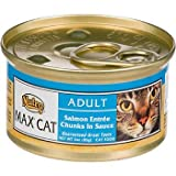 Nutro MAX CAT Salmon and Whitefish Entree Gourmet Classics Adult Canned Cat Food, My Pet Supplies