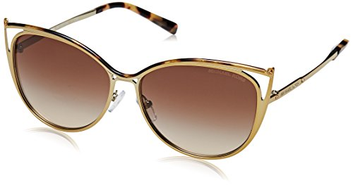 Michael Kors MK1020 116313 Tokyo Tortoise/Gold-Tone Ina Cats Eyes Sunglasses - Sunglasses Eye Michael Cat Kors