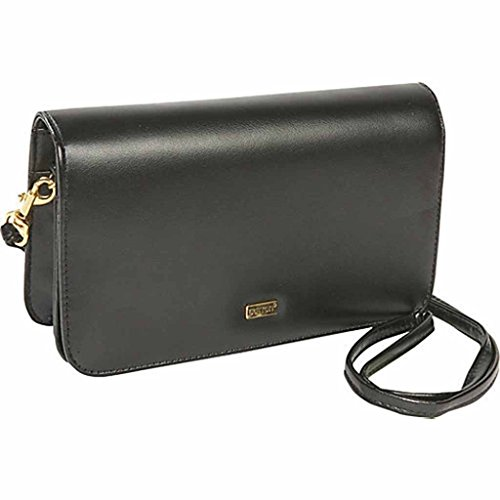 Wallet Buxton Check Clutch Mini Bag On A String - Black Ladies Wallet on a String NEW