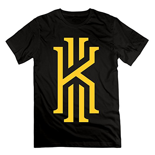 Chocy Men's 2# Basketball Player Kyrie K Irving Classic T Shirt Black (Chris Chrisley Knows Best)