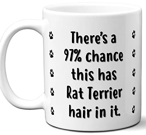 Funny Dog Gifts For Women & Men. Rat Terrier Owner Mug Coffee Tea Cup. Dog Themed Present Dog Mom Dog Dad Dog Lover Men Girls Groomer Women Xmas Birthday Mother