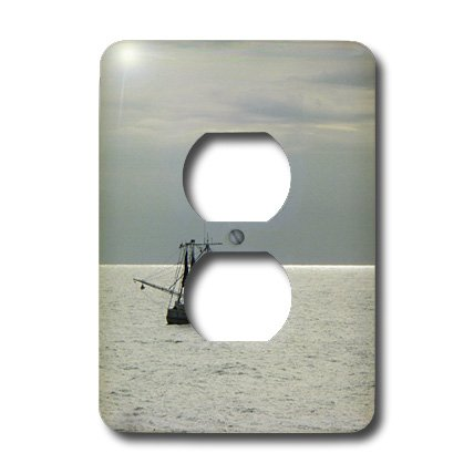 3dRose lsp_7288_6 Gulf Shrimp Boat 2 Plug Outlet Cover