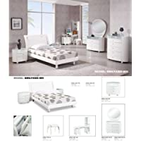 Global Furniture USA Emily Kids White Veneer Twin Bedroom Set