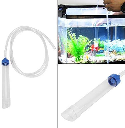 Cambiador de agua para acuarios, limpiador de arena de grava de 59 pulgadas de longitud Tanque