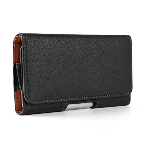 Texture PU Leather Horizontal Waist Belt Clip Holster Wallet Case for Samsung Galaxy S9+ S8+ S8/Note 8/A7 A8 J7/Nokia 7 Plus 5 6 8/HTC Desire 12 12+/U11 EYEs/U11+ (Desire Case Eye Wallet Htc)