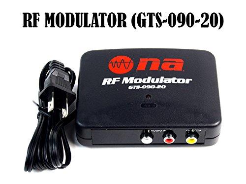 Rf Switch Tv (RF Modulator TV Switch Audio Video RCA Ant Input to F Type Coax Output)