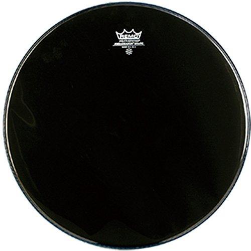 Remo Ambassador Ebony Snare Side No Collar Drumhead, 14