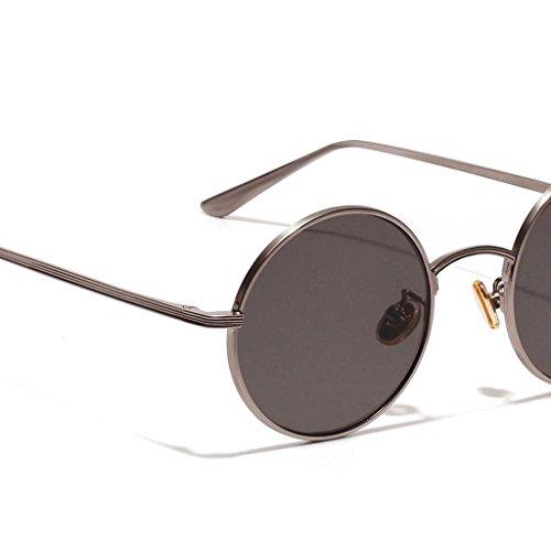 Masculinos Vidrios Retro Clásica gris MagiDeal Estilo Forma claro Sol Pesca de Personalidad Viajes Decoración 1x Gafas Redonda Femeninos OxO1BqwZgR