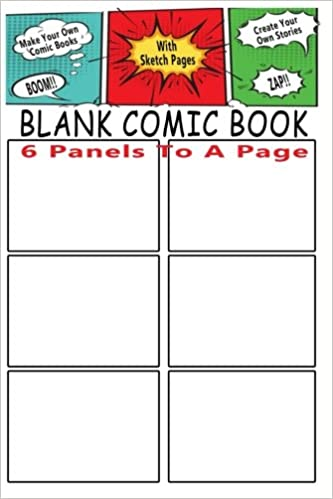 Blank Comic Book 6 Storyboard Panels To A Page Make Your Own