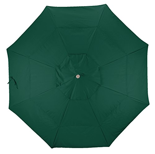 California Umbrella Replacement Canopy Cover in Hunter Green Olefin Umbrella, 11' Round