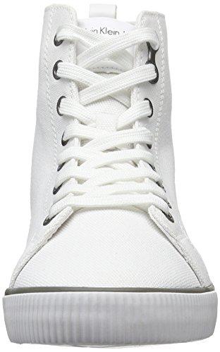 Calvin Klein Women's Dolores Canvas Low-Top Sneakers, Black White (White)