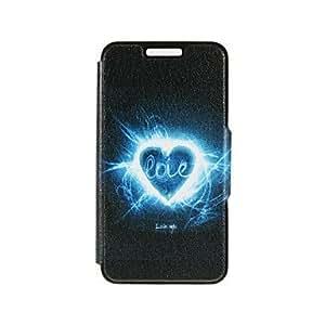 GX kinston patrón amor aurora cuero de la PU caso de cuerpo completo con soporte para el iphone 5 / 5s