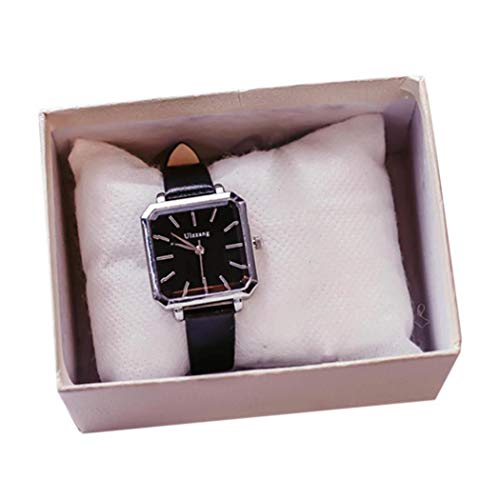 Edited Women Fashion Artificial Leather Band Analog Quartz Wrist Watch Bracelet Bangle Wrist Watches