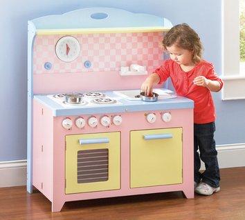 6 Piece Hideaway Kitchen Set - Guidecraft Colored Kitchen