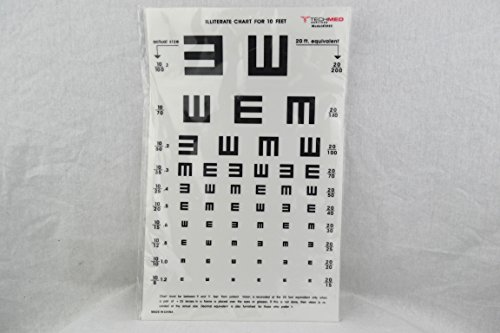 Illuminated Eye Test Cabinet Illiterate Chart 10 ft distance 14 x 9 by MyDirectAdvantage