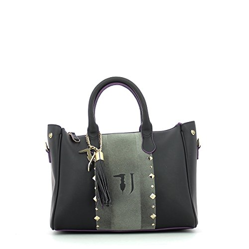 main à Blondie Sac Medium Bag Tote black Jeans schwarz 30 Stud black cm Ecoleather Trussardi qxz8F4Rc