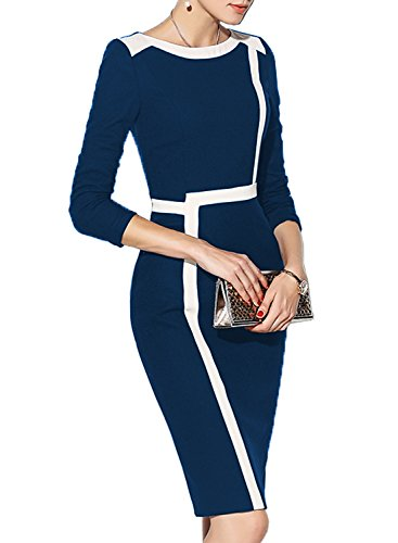 blue work dress - 9