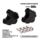 AnXin Handlebar Risers For Suzuki GE250F GSF 1250 s 07-16 SV650 SV1000 03-07 v-STROM DL250 GW250 S/F 13-17 Motorcycle Accessories Elevated Handlebar Clamp Extend Riser Mounting Handles