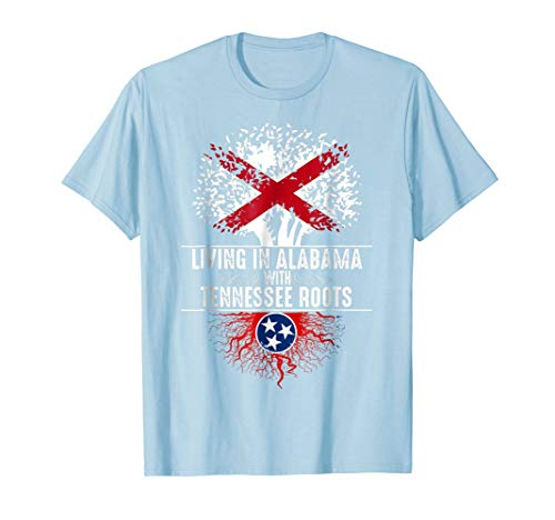 - Alabama Home Tennessee Roots State Tree Flag Shirt Love Gift