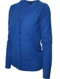 2LUV Women's Long Sleeve V-Neck Button Up with Buttoned Sleeves