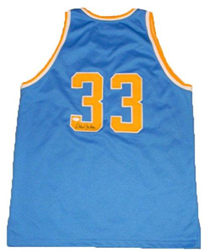 6b1690612 Image Unavailable. Image not available for. Color  Kareem Abdul-Jabbar  Autographed Jersey -  33 Basketball - JSA Certified - Autographed College