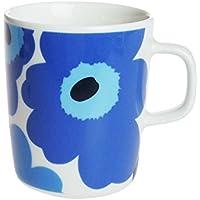Marimico UNIKO马克杯白色X蓝色的250cc 063431-017 口直径 8cm 高 9.5cm