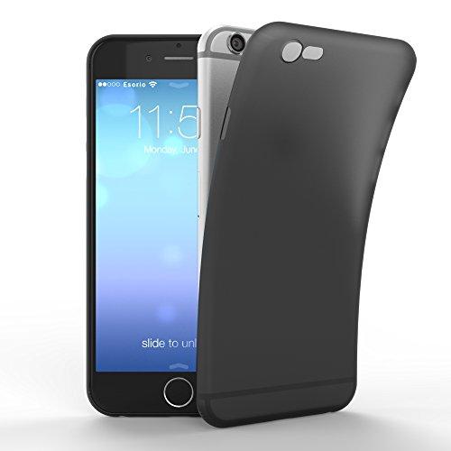 esorio® Apple iPhone 6 6S Hülle Ultra Slim in schwarz